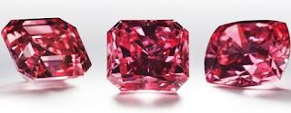 diamantes vermelhos raros lapidados