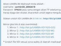Download VDI Terbaru UAMBN-BK Tahun 2020 - WIB