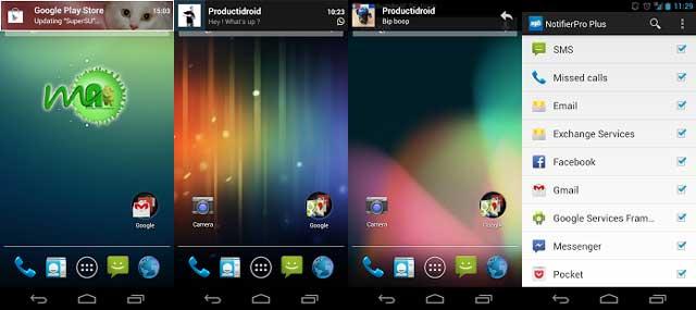 NotifierPro 8.7 Android Screenshots
