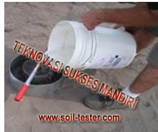 alat uji rembesan air pada tanah.