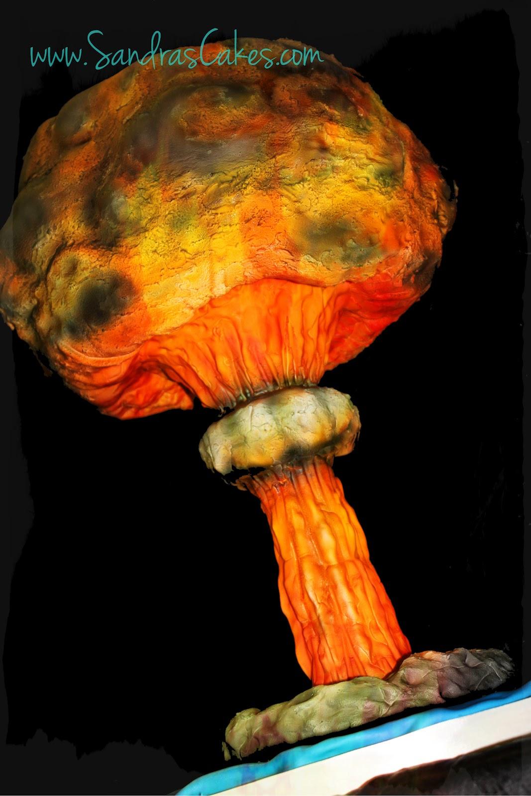 Mushroom Cloud Groom S Cake