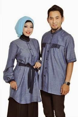 Contoh Model Baju Muslim Couple Untuk Lebaran Terbaru