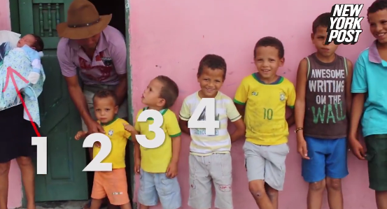 Brazilian couple has 13 sons and won't stop having kids until they have a girl (photos)