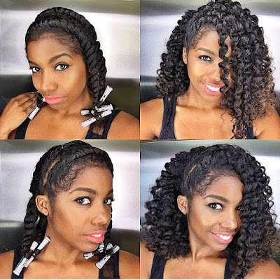 Kurlee Belle: Kurlee Belle GET THE LOOK: Flat Twist Out with Perm Rods