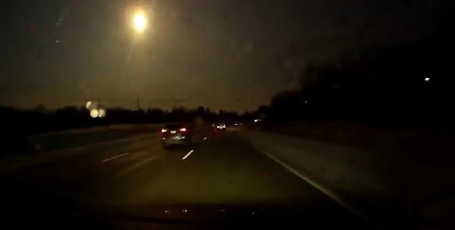 Meteor seen over Michigan on January 16. Credit: Mike Austin/Youtube
