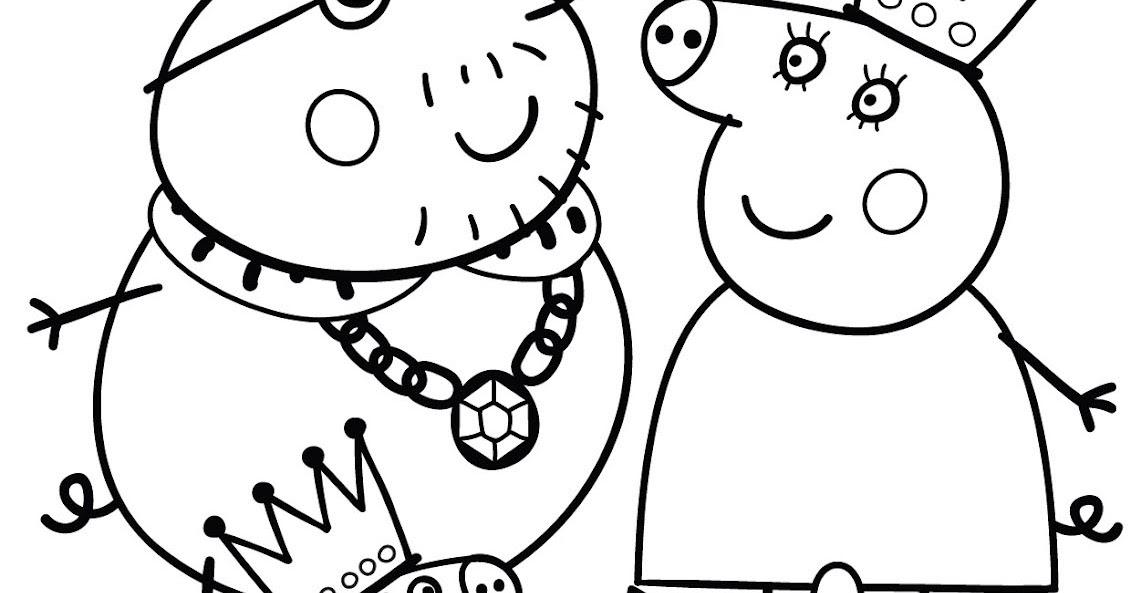 Peppa pig disegno da colorare n 7 for Maschere di peppa pig da colorare