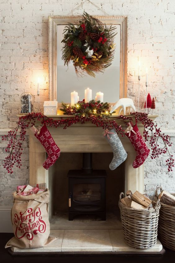 these amazing christmas fireplace decorations are beautiful enough to make you wish you had one in every corner in your home