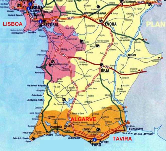 mapa completo do algarve Pitoresco   A Arte dos Grandes Mestres: MAPA DE TAVIRA (ALGARVE  mapa completo do algarve