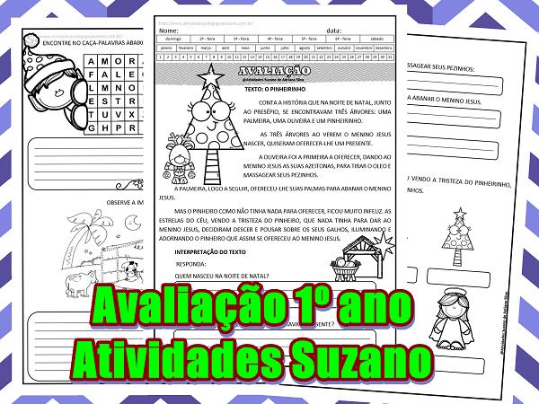 avaliação-língua-portuguesa-natal-escrita-leitura-produção-atividades-suzano