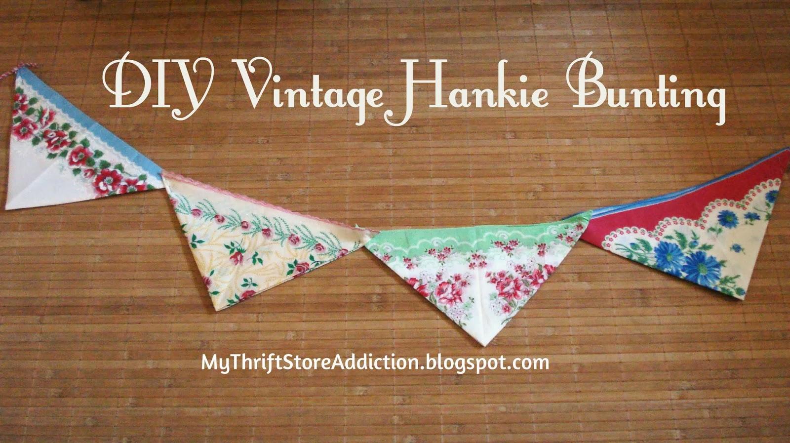 Vintage hankie bunting