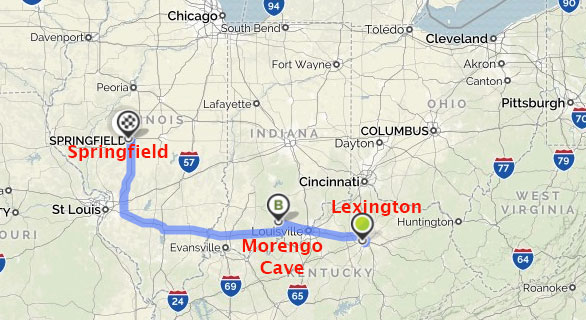 Marengo Ohio Map.Merikay S Dream Marengo Cave Indiana And Achieving A Goal