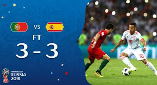 Portugal vs Spanyol 3-3 Video Gol Highlights