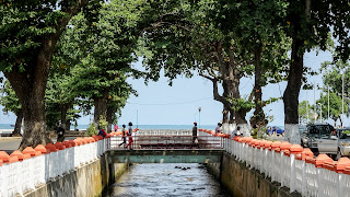 Small bridge in the capital of Sao TOme