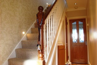 Painting solutions hall stairs and landing - How to wallpaper stairs and landing ...