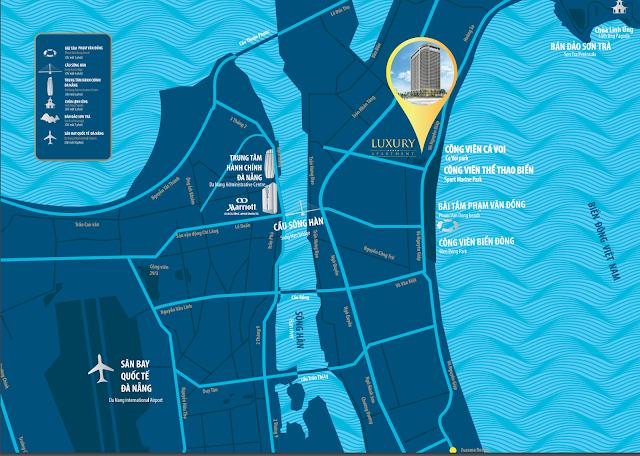 Liên kết khu vực xung quanh dự án Luxury Apartment Đà Nẵng
