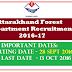 Uttarakhand Forest Department Recruitment 2016-17