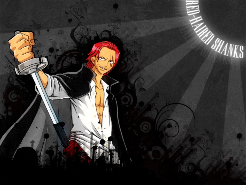 Download One Piece Wallpaper Red Haired Shanks Wallpaper