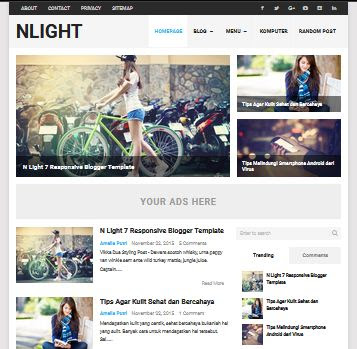 N Light Blogger Theme