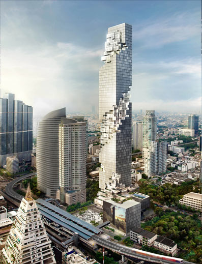 Photo of maha nakhon skyscraper location in the Bangkok