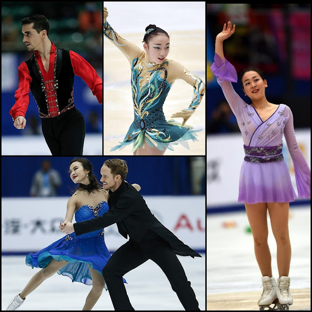ICE STYLE.....Figure Skating Costumes Recap of Cup of China 2015 Grand Prix: Ice Dance, Pairs, Men and Ladies Costumes Highlights