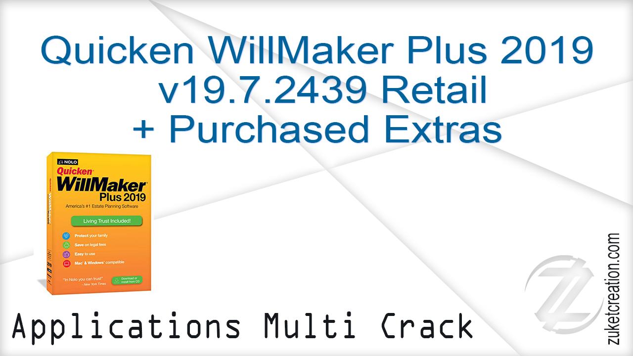 Activator Only: Quicken WillMaker Plus 2019 v19 7 2439