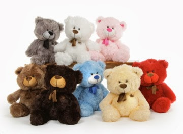 Tiny Shags Teddy Bears from Giant Teddy come in so many colors!