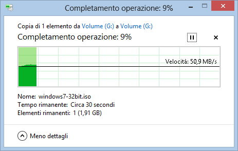 Copia File in Windows 8: Ulteriori informazioni