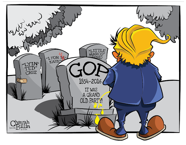 Death Of The GOP Trump Presumptive Republican Presidential Nominee