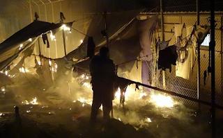 Δύο νεκροί από έκρηξη στο hotspot της Μόριας