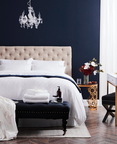 Beautiful blue bedroom design