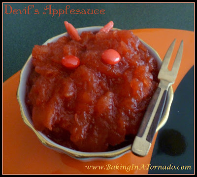 Devil's Applesauce | www.BakingInATornado.com | #recipe  #Halloween