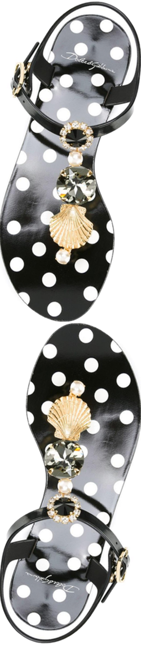 Dolce&Gabbana Embellished Jelly Sandal
