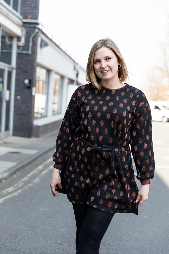 Louise's Nora Dress with Cuffs Hack - Tilly and the Buttons