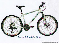 Sepeda Gunung Evergreen Blaze 3.3 Rangka Aloi 21 Speed Shimano EZ-Fire 26 Inci