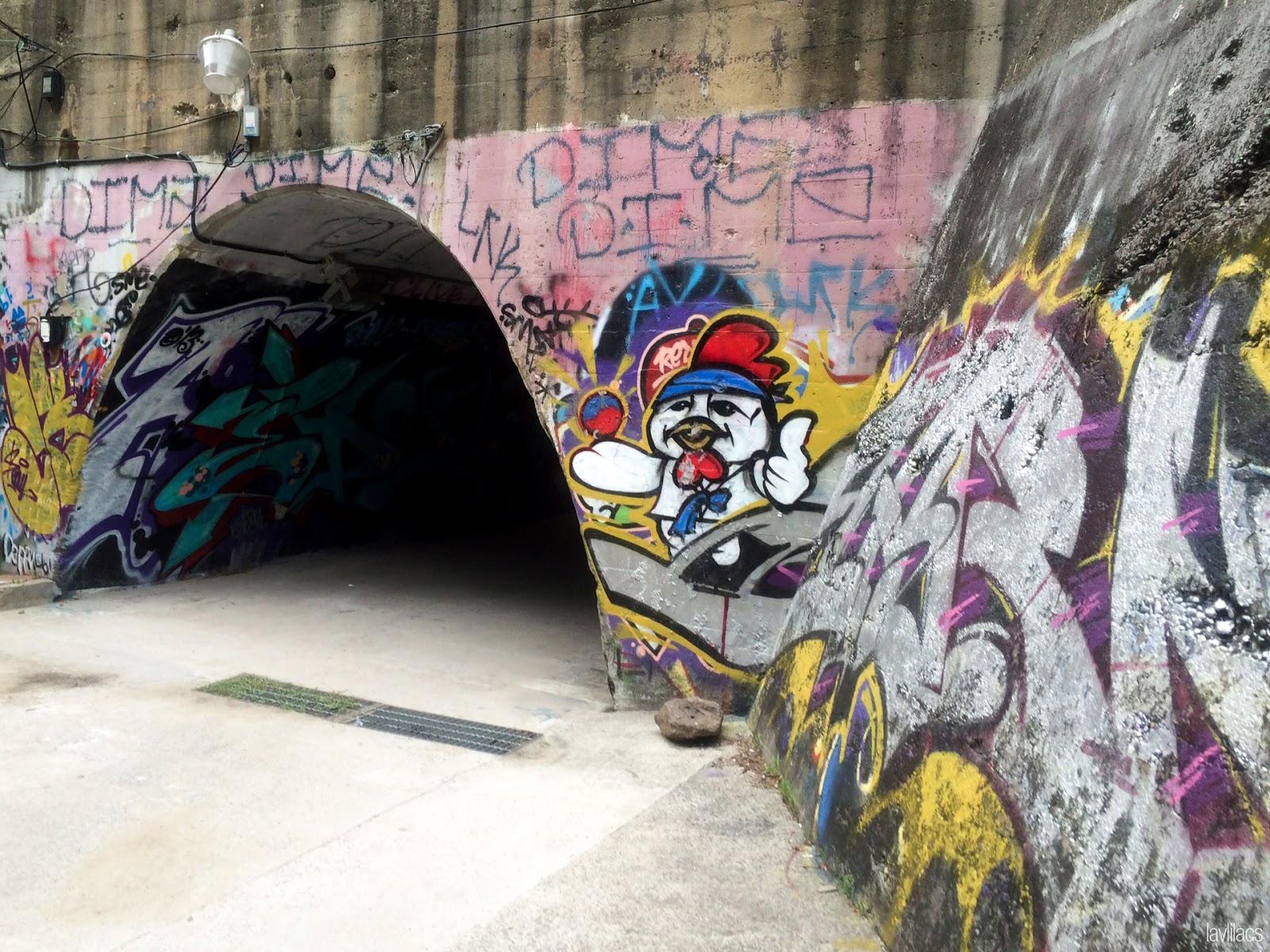Seoul, Korea - Summer Study Abroad 2014 - Sinchon Edae Graffiti Tunnel