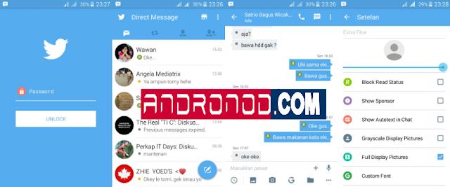 BBM Mod Twitter Style v3.2.0.6 Apk Terbaru