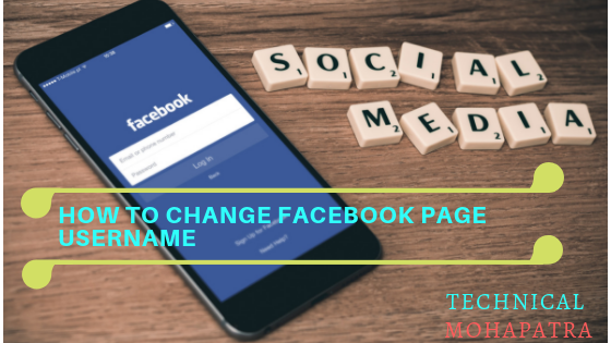 How to Change Facebook page Username in hindi .