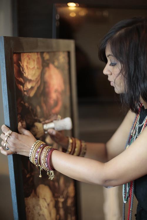 Painting the bar cabinet by Shruthi Govindan