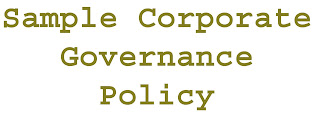 Sample Corporate Governance Policy