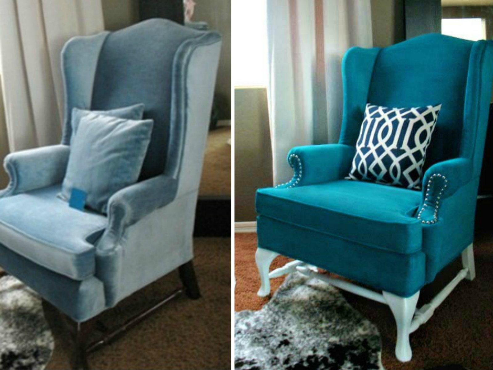 Pintar y transformar 10 sillones tapizados con tela - Sillones y punto ...