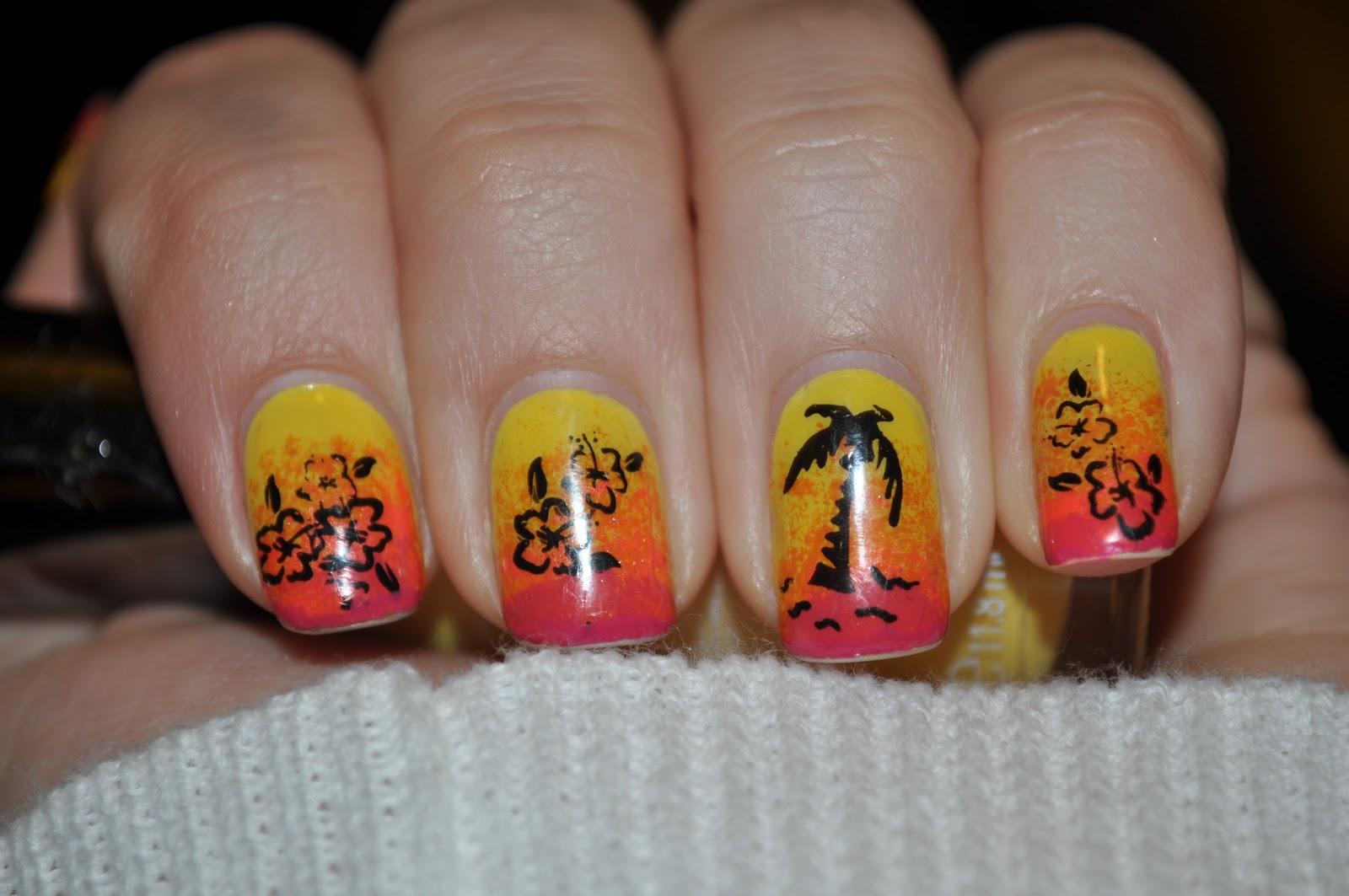 Jessica's Nail Art: Tropical Nails