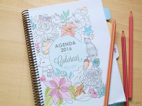Agenda para colorear y personalizar.