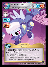 My Little Pony Rainbow Dash, One Winged Warrior Marks in Time CCG Card