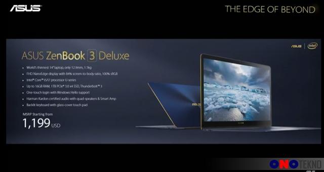 Harga ASUS ZenBook 3 Deluxe ( UX490 )