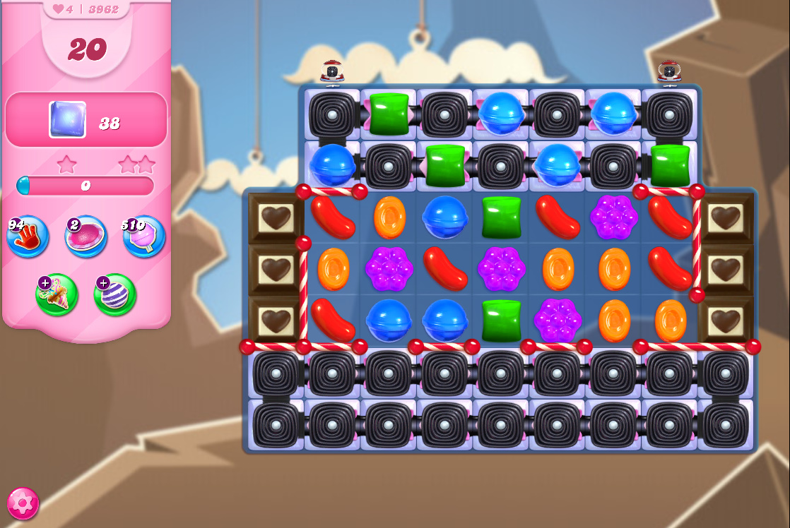 Candy Crush Saga level 3962