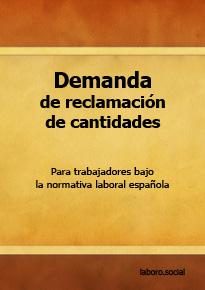 Modelos de demanda de reclamación de cantidad sin obligación de contratar abogado.