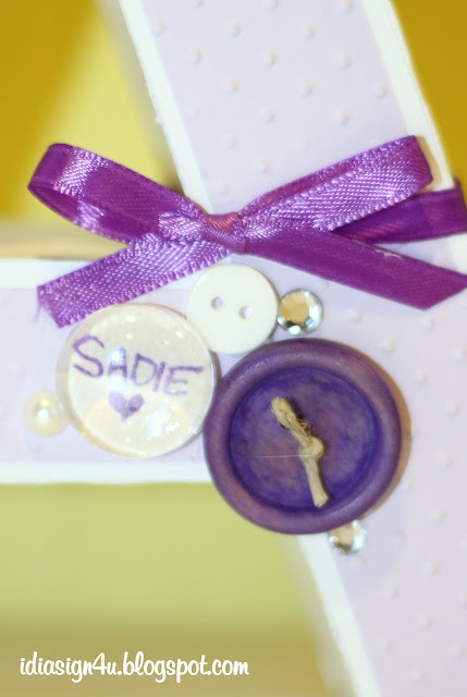 3D Paper Letters - SADIE | & DIY Glass Buttons by ilovedoingallthingscrafty.com