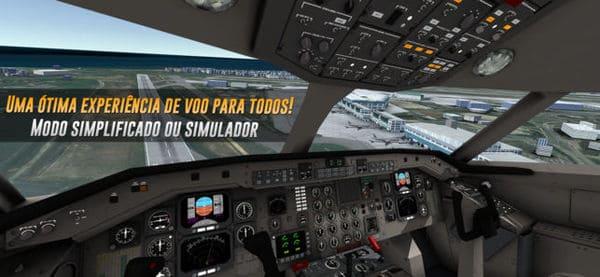 Baixe grátis simulador de voo para seu celular Android ou iPhone (iOS)