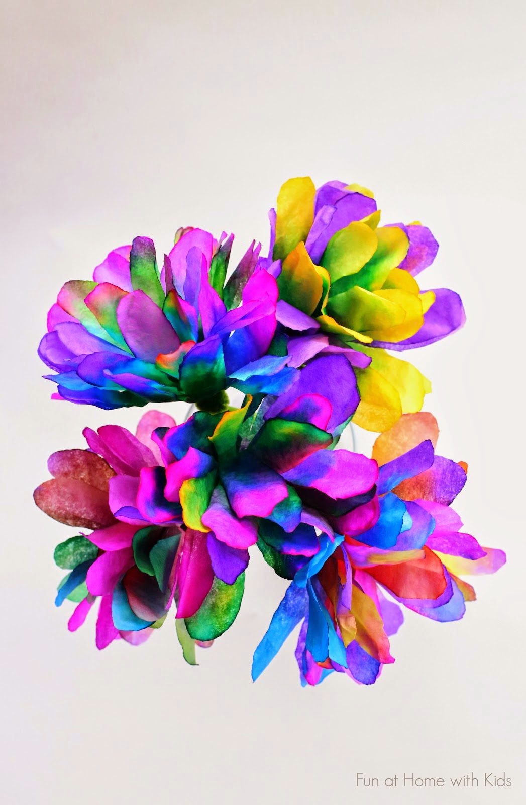 Kids Coffee filter flowers