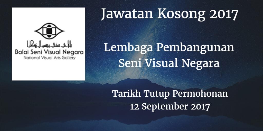 Jawatan Kosong Lembaga Pembangunan Seni Visual Negara 12 September 2017